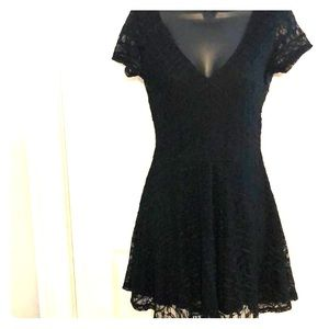 Forever 21 Dresses - Black skater dress size small